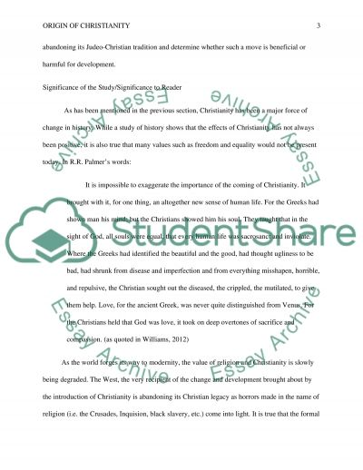 What is the Origin of Christianity Identification and Discussion of Issues essay example