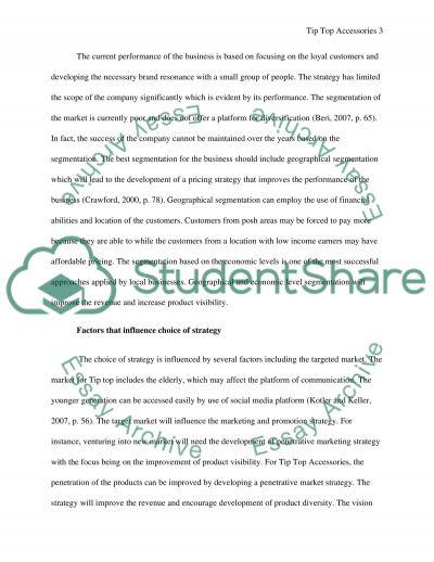 Marketing Principle essay example