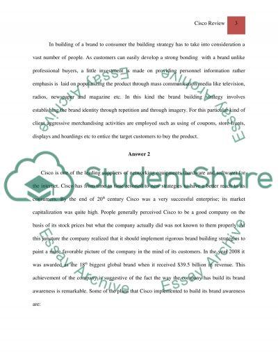 Cisco Review essay example