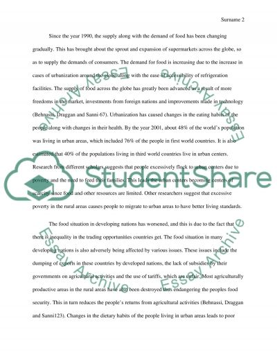 The Globalization of the Food System essay example