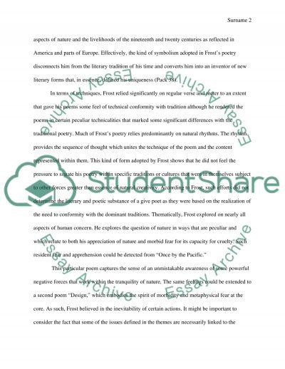 Robert Frost Poetry essay example