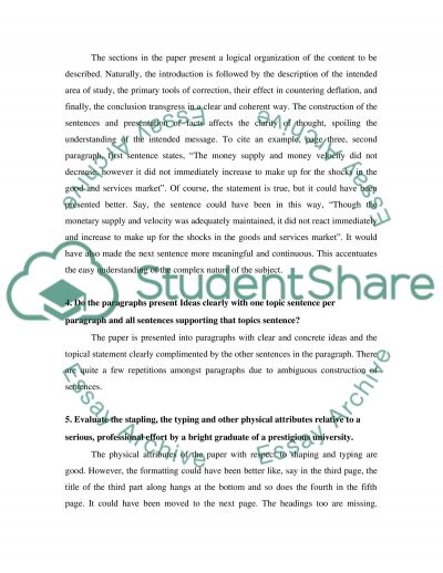 Term paper review essay example