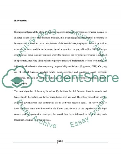 Enron Scandal Case study essay example