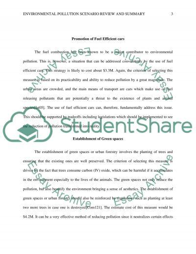 Environmental pollution essay example