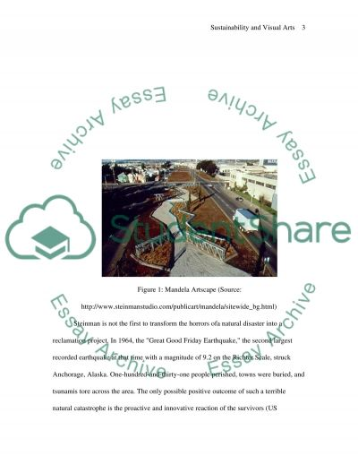 Sustainability and visual arts essay example