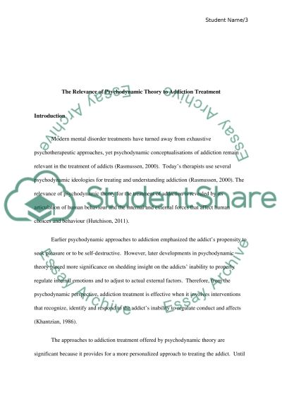 psychodynamic theory essay Aggression revision: exam essay plans q1 outline and evaluate two social psychological theories of aggression (eg social learning theory, deindividuation) theory 1 • social learning theory= originated from work of gabriel tarde (1912) learning= relatively permanent change in behaviour due to experience • classical.