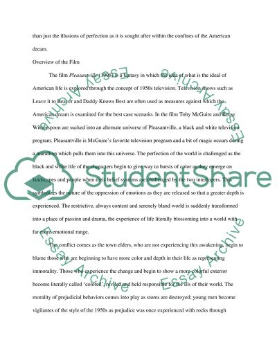 Pleasantville Essay Example  Topics And Well Written Essays    Pleasantville