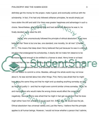 Philosophy And The Human Good essay example