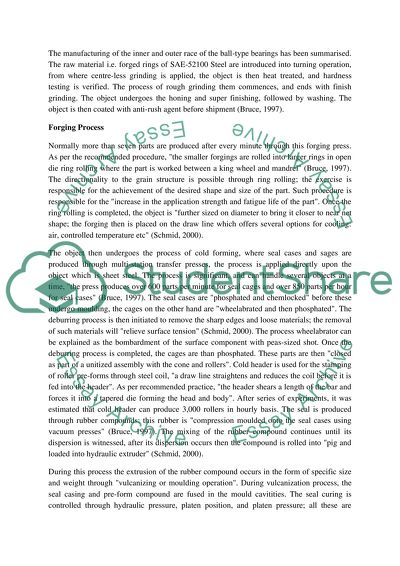 Manufacturing Engineering Master Essay