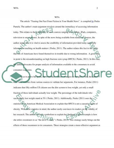 WPA essay example