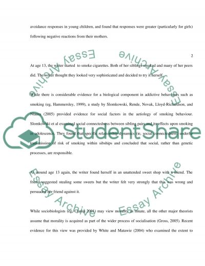 Nature/nurture and personality development Essay example