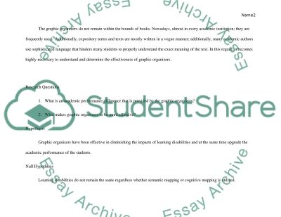 Determining the Effectiveness of Graphic Organizers essay example