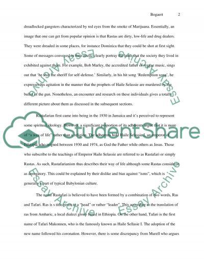 Rastafari essay example