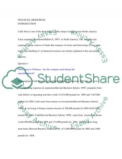 Financial Resources Essay essay example