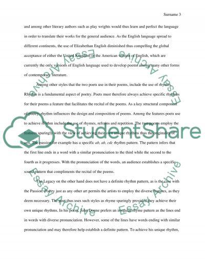 a comparison essay example