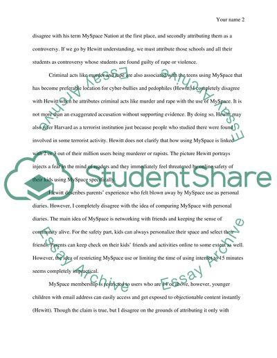 Essay social media networking