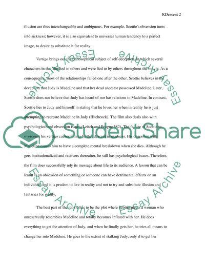 Vertigo essay help me write science annotated bibliography