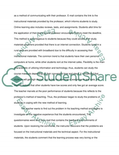 Applying the Principles of Instructional Design in E-Learning essay example