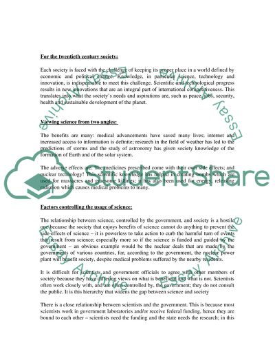 Report Example Essay  Example Essay Thesis also Research Essay Topics For High School Students Science And Its Impact On Society Essay Example  Topics And  Computer Science Essay