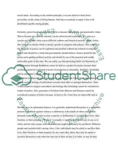 Distributive Justice essay example