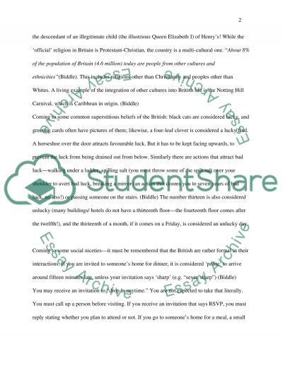 Cross Cultural Management Essay essay example