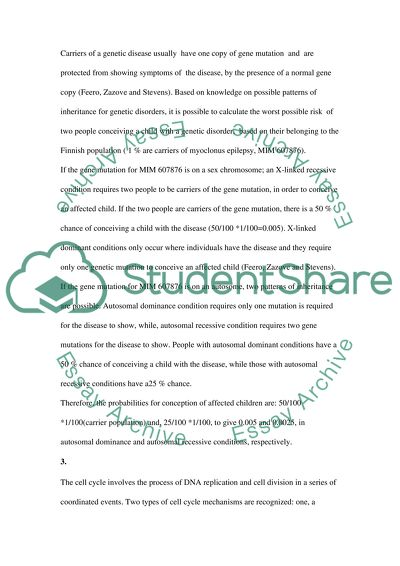 Two short paper about biology
