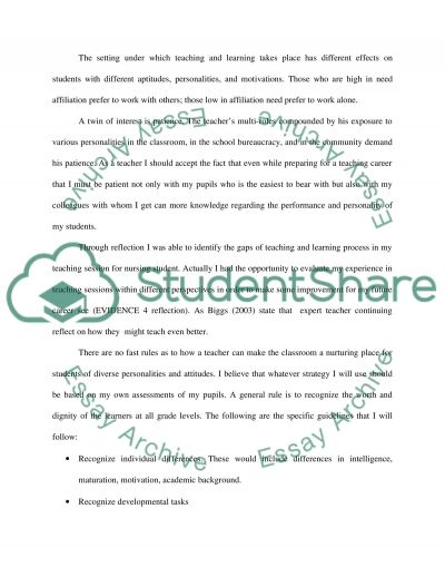 Teaching and Learning essay example