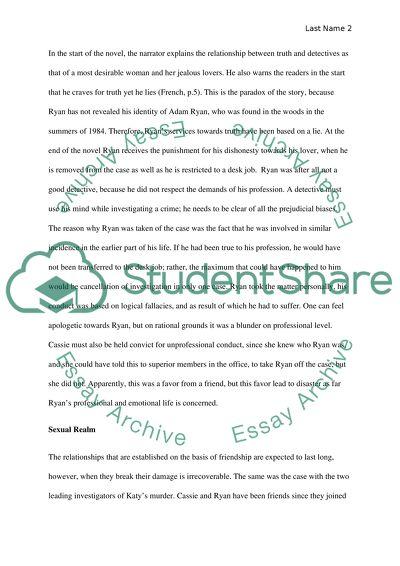 Novel Essay