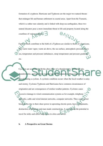 student essay on hurricanes Remember that a five paragraph essay has the following construction:  essay  here are some paragraphs developed by students concerning violent storms.