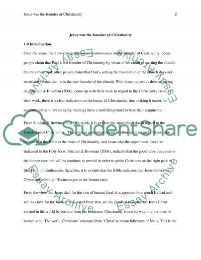 Jesus as the Founder of Christianity essay example
