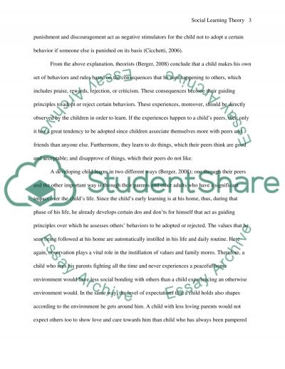 Social Learning Theory essay example