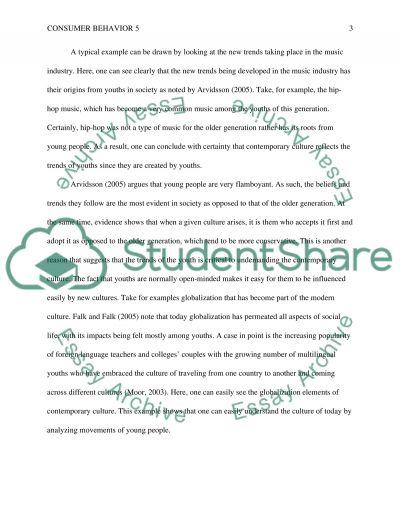 Consumer behaviour 5 essay example