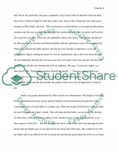 critical essay for a rose for emily Critical analysis - a rose for emily by william faulkner 3 pages 859 words november 2014 saved essays save your essays here so you can locate them quickly.