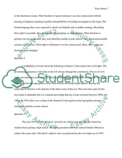 Answer question short essay