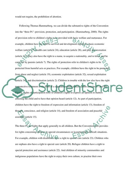 Childrens Rights Bachelor Essay