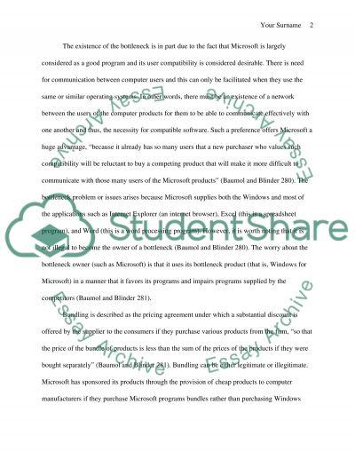 Litigation involving Microsoft Corporation essay example