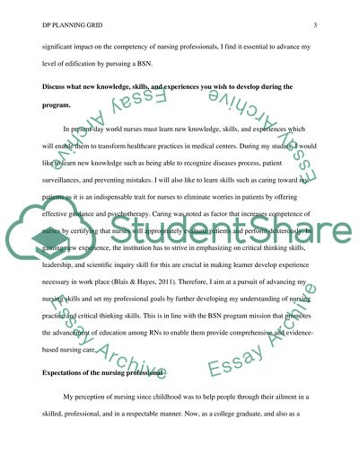 Rationale Essay with DP Plannning Grid - Written Assignment