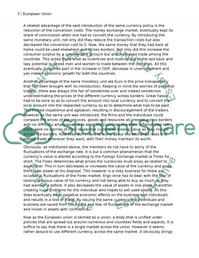 European business essay example