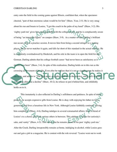 Character analysis of Christian Darling in The Eighty-Yard Run short story