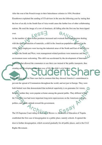 American History College Essay essay example
