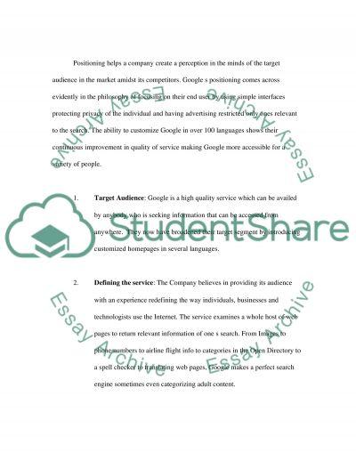 Google Master Essay essay example