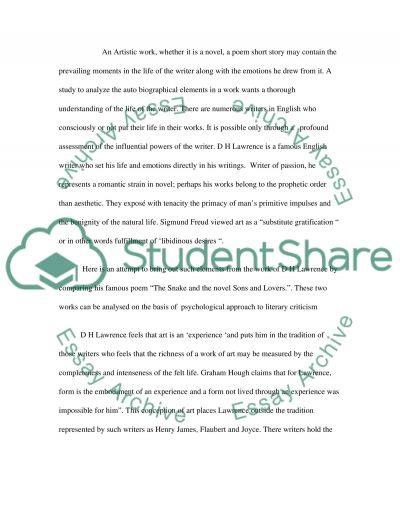 """sons and lovers thesis This list of important quotations from """"sons and lovers"""" by dh lawrence will help you work with the essay topics and thesis statements above by allowing you to."""