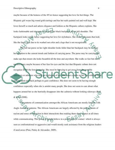 Ethnography essay paper
