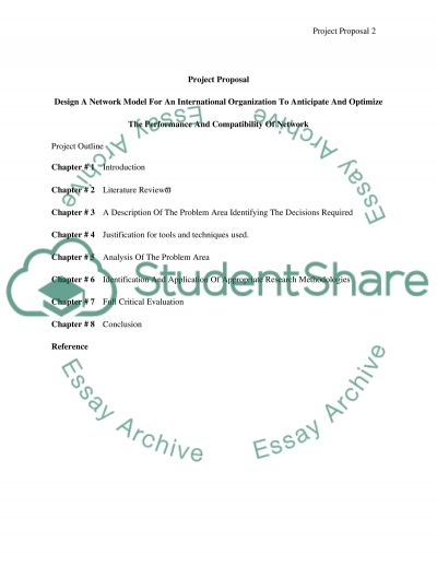Design A Network Model For An International Organization To Anticipate And Optimize The Performance And Compatibility Of Network essay example