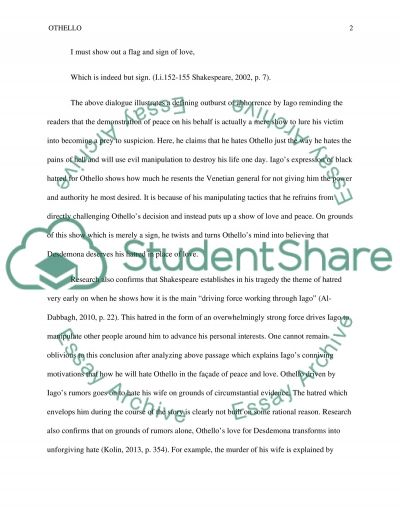 Essay On Myself In English Othello Theme Of Hate Autism Essay Topics also Essays On Mothers Othello Theme Of Hate Essay Example  Topics And Well Written Essays  Pharmacy Admissions Essay