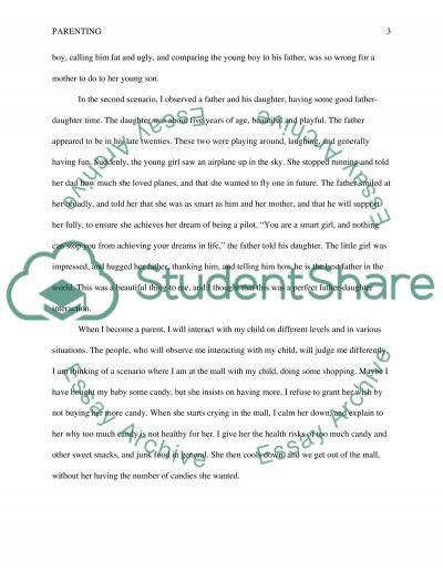 Parenting essay example