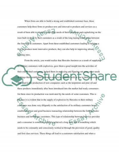 Customer Relationship essay example