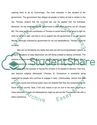 Thoreaus philosophy