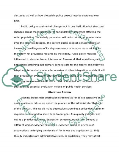 Community Health Outcomes and Evaluation essay example