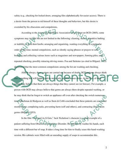 Ocd essay free generic cover letter samples